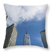 New York City's Freedom Tower - A Perspective Throw Pillow