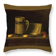 New York Daily News By William Michael Harnett Throw Pillow