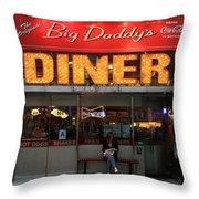 New York Diner 1 Throw Pillow