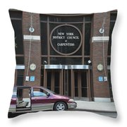 New York District Council Of Carpenters Throw Pillow
