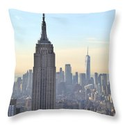New York Empire State Building Throw Pillow