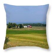 New York Farmland Throw Pillow