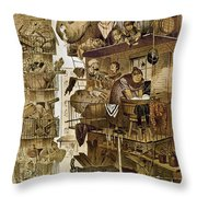 New York: Fire Escapes Throw Pillow