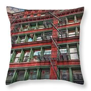 New York Fire Escapes Throw Pillow