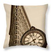 New York Flatiron Throw Pillow by Juergen Held