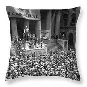 New York Fund Raiser Throw Pillow
