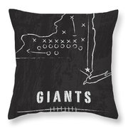 New York Giants Art - Nfl Football Wall Print Throw Pillow by Damon Gray