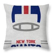 New York Giants Vintage Art Throw Pillow