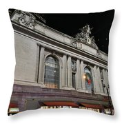 New York Grand Central Station Throw Pillow