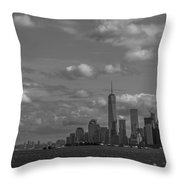 New York Harbor Throw Pillow
