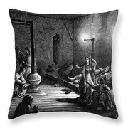 New York: Homeless, 1873 Throw Pillow