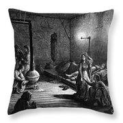 New York: Homeless, 1873 Throw Pillow