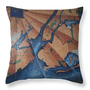 New York In Mosaic Throw Pillow