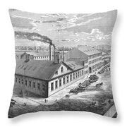 New York: Iron Works, 1876 Throw Pillow