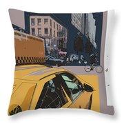 New York Jazz I Throw Pillow