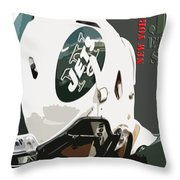 New York Jets Football Team And Original Typography Throw Pillow