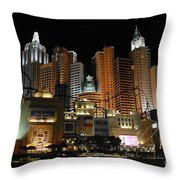 New York Las Vegas Throw Pillow