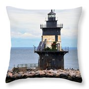 New York Lighthouse-3 Throw Pillow