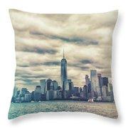 New York Lightleak Throw Pillow
