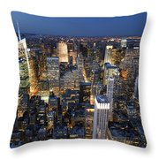 New York Lights Throw Pillow