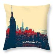 New York Manhattan Throw Pillow