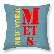 New York Mets Baseball New Typography Throw Pillow