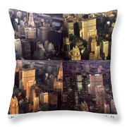 New York Mid Manhattan Medley - Photo Art Poster Throw Pillow