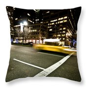 New York Minute Throw Pillow