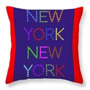 New York No 5  Throw Pillow
