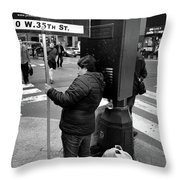 New York, New York 3 Throw Pillow