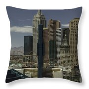 New York New York View 2 Throw Pillow