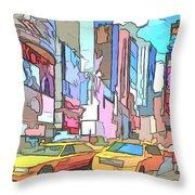 New York On A Sunday Throw Pillow