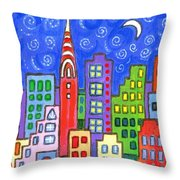 New York One Throw Pillow