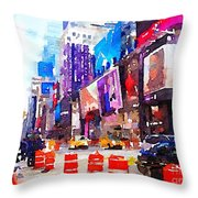 New York Pulse Throw Pillow