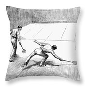 New York Racket Club Throw Pillow