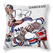 New York Rangers 1960 Program Throw Pillow