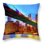 New York Skyline 11 Throw Pillow