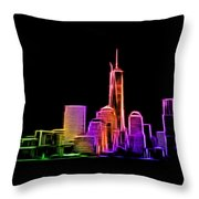 New York Skyline Throw Pillow by Aaron Berg