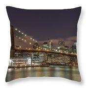 New York Skyline - Brooklyn Bridge - 6 Throw Pillow