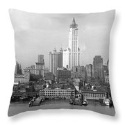 New York Skyline From Brooklyn  Throw Pillow