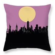 New York Skyline Minimalism Throw Pillow