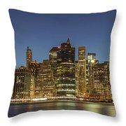 New York Skyline Panorama - 2 Throw Pillow