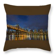 New York Skyline - Queensboro Bridge - 2 Throw Pillow