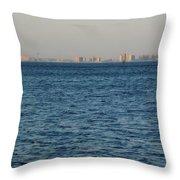 New York Skyline Throw Pillow by Robbie Masso
