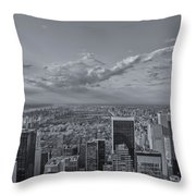 New York Skyline - View On Central Park - 2 Throw Pillow