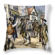 New York: Stamp Act , 1765 Throw Pillow