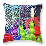 New York State Chinese Lantern Festival 4 Throw Pillow