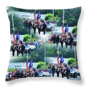 New York State Police Color Guard  1 Throw Pillow