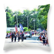 New York State Police Color Guard  2 Throw Pillow