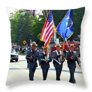 New York State Police Color Guard  5 Throw Pillow